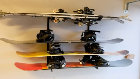 Snow board combi sort pulverlakkert